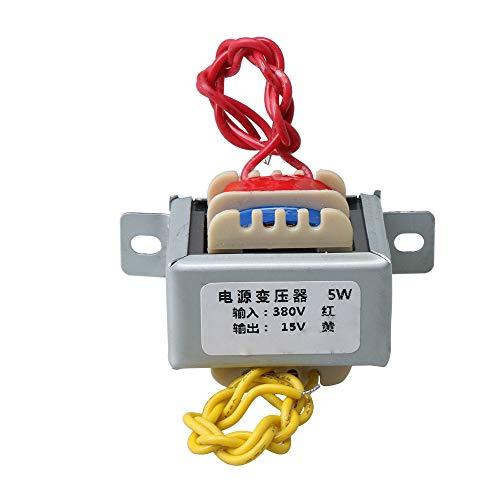 BQLZR Transformateur d'alimentation 43 x 35 x 38 mm 5 W AC 380 V vers AC 15 V Longueur du câble 15 cm pour applications industrielles