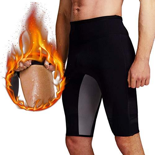 Martiount Pantalones de Sauna para Hombre Rutina de Ejercicio Pantalones Body Shaper Pantalones Cortos de Neopreno Que Adelgaza de la Pérdida de Peso Pantalones Slim Gym Tummy Burn Fat Fitness L