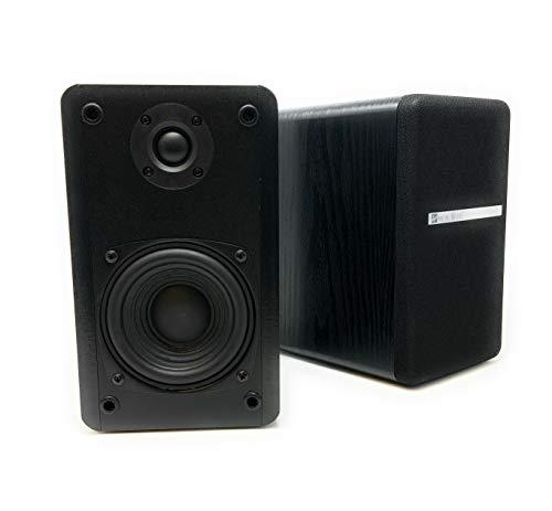 Singing Wood T25 Passive 2 Way Bookshelf Speakers 60 Watts (30W x 2) with preinstalled Wall Mount Bracket- Beech Wood…