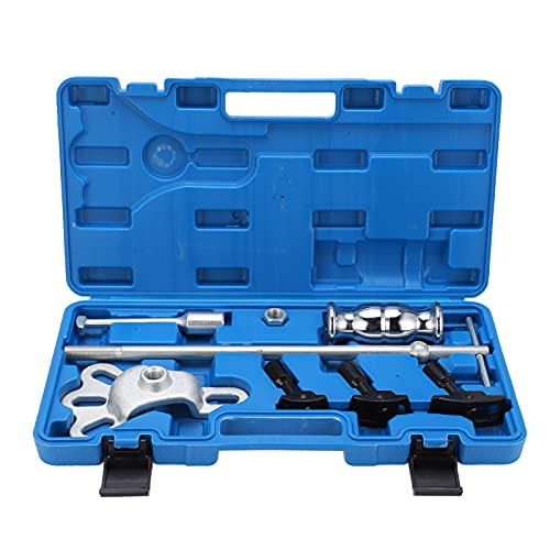 Aramox Carbon Steel Rear Axle Puller Set, 8pcs/Set Rear Axle Bearing Puller Slide Hammer Service Repair Kit with Carrying Case