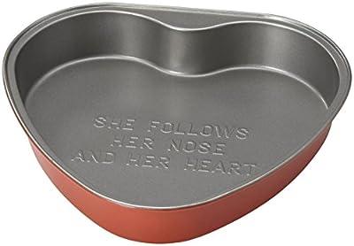 Kate Spade New York ALL IN GOOD TASTE Metal BAKEWARE HEART PAN, Red