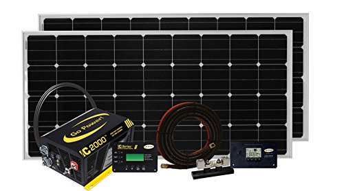 Go Power! Solar Elite Complete Solar and Inverter System with 380 Watts of Solar