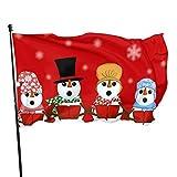 GOSMAO Bandera de jardín Muñeco de Nieve navideño Color Vivo y Resistente a la decoloración UV Bande...