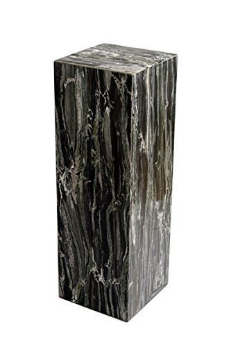 Yuchengstone Eckige Marmorsäule Säule zusammengesetzt aus grünem Marmor, Handarbeit, Maße H/B/L 62 x 21 x 21cm Gewicht: 25kg