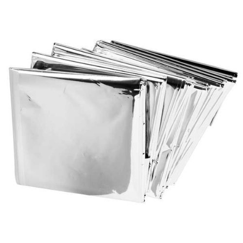 BH Lot of 50 Emergency Mylar Blankets - 84' x 52'