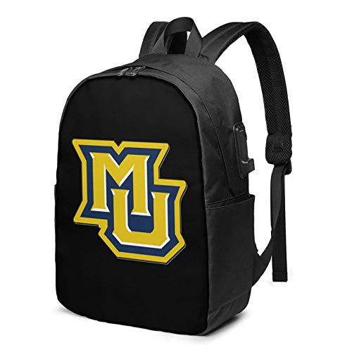 Lawenp Marquette University Laptop Backpack with USB Charging Port, Business Bag, Bookbag | Fits Most 17 Inch Laptops and Tablets