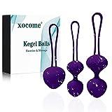 Kegel Ball Kit Masajeador Benwa Ball para mujer Ejercicio del suelo pélvico Kegel Ejercicio Kit de...