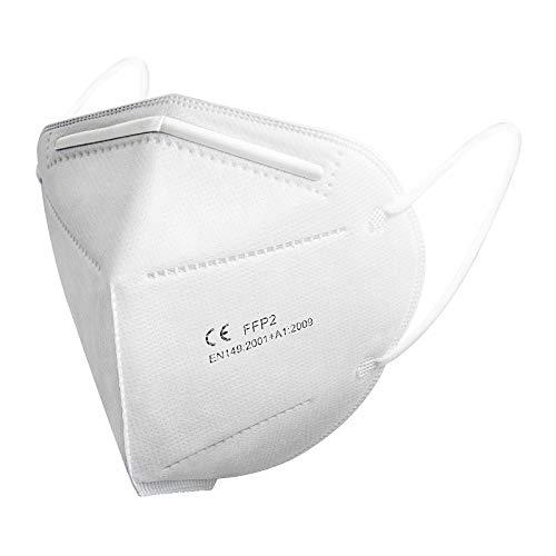 FFP2 Mundschutz Maske - SOYES 20 Stück FFP2/KN95 Gesichtmasken 4-lagige Staubschutzmaske CE Zertifizierte EN 149 Mund und Nasenschutz Einmalmasken