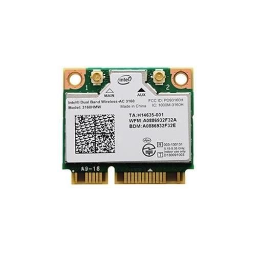 Intel 3160.HMWWB.R WiFi Wireless-AC 3160 Dual Band 1x1 AC+ Bluetooth HMC Brown Box White Box (Intel3160.HMWWB.R)
