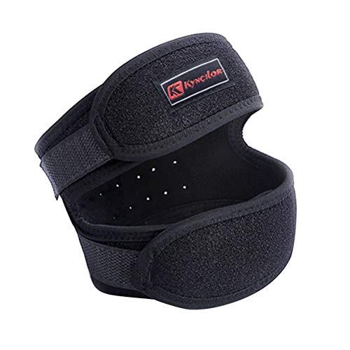 Healifty Knee Strap Brace Support Regolabile stabilizzatore Rotula Sollievo dal Dolore Ginocchio per Il Salto Sportivo in Esecuzione Basket (Nero)