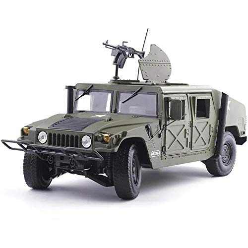 AWYJ Coche de Juguete 01:18 Humvee Campo de Batalla del vehículo aleación de Coches de Juguete Modelo Militar Modelo de Juguete Diecast Car (Color : Green, Size : One Size)