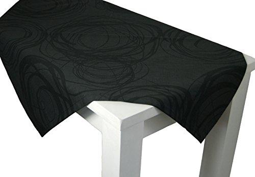 """beties """"Mystik"""" Mitteldecke ca. 80x80 cm Tischdecke in interessanter Größenauswahl hochwertig & angenehm 100% Baumwolle Farbe Schiefer-Schwarz"""