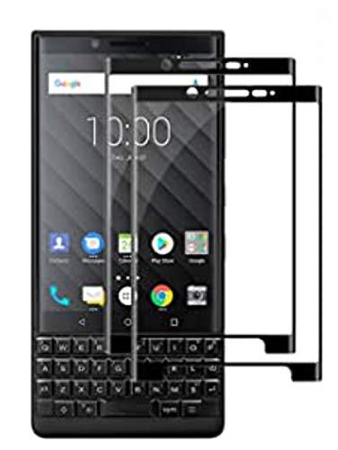 ViViKaya Bildschirmschutzfolie für BlackBerry Key 2, [ 2 Stück] Gehärtetes Glas Ultra-klar Anti-Fingerabdruck Blasenfreie Stoßabsorbierende Panzerglas Schutzfolie für BlackBerry Key 2 [Schwarz]
