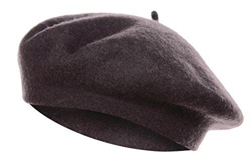 VGLOOKO Vglook Klassische Wollmütze im französischen Stil Gr. Einheitsgröße, coffee