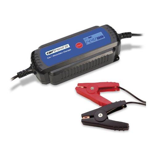 Cartrend 50245 Mikroprozessor-Batterieladegerät DP 3800 mit LCD-Anzeige für 1.2 bis 120 Ah Batterien, IP65, TÜV/GS