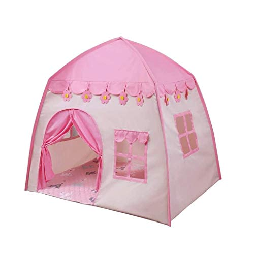 Bdesign Princess Castle Play Tent Large Kids Play House,Girls Pink Play Tents Toy for Indoor & Outdoor Games (Pink)