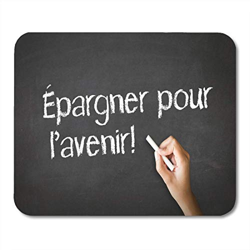 Mauspads Blackboard-Konto Speichern Sie für Ihre Zukunft im französischen Bankwesen Mauspad für Notebooks, Desktop-Computer-Matten Büromaterial