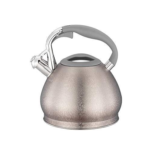 SHYOD Utensilios de cocina antiescarcha 3L, tetera de café y té, silbido automático de acero inoxidable para estufa de gas con gran capacidad