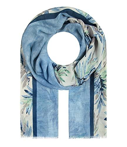 Majea Halstücher Damen Tuch Kopftuch Halstuch Schal Damen-Schal Tücher Damen Stola (880032) (blau 1)