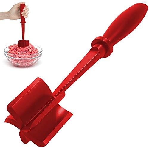 Picador de carne molida, triturador multifuncional de nailon resistente al calor para carne picada, papas y hamburguesas para picar y mezclar carne picada (CONSEJO)