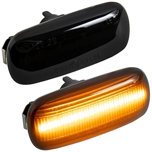 phil trade LED SEITENBLINKER schwarz kompatibel für A3 8P | A4 B6 B7 & Cabrio | A6 C6 4F [7315-1]