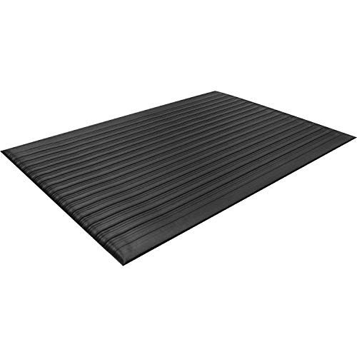Guardian 24030502 Air Step Anti-Fatigue Floor Mat, Vinyl, 3'x5', Black, Reduces fatigue and discomfort, Can be easily cut to fit any space