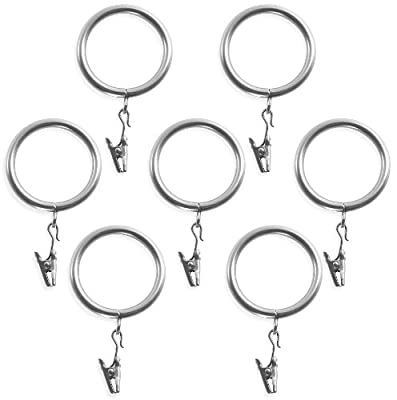 Decopolitan 7-Pack Window Treatment Clip Ring, Antique Silver, for 1 Inch Diameter Rods (272466980)