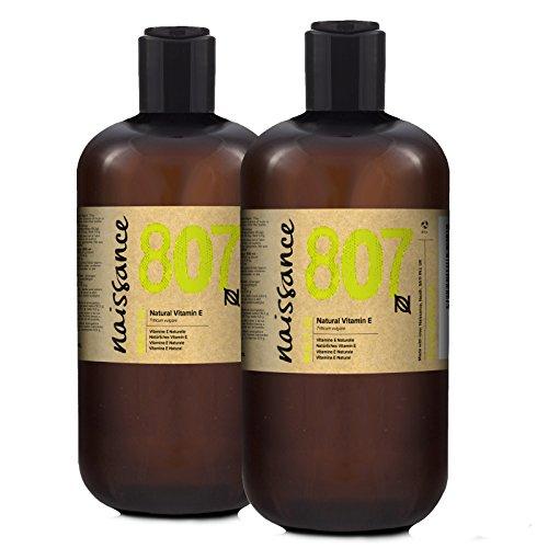 Naissance Olio di Vitamina E Naturale 1L (2x500ml) - Naturale, Vegano, Cruelty Free - Idratante e Rigenerante- Ideale per Aromaterapia, Cura della Pelle e dei Capelli, Formulazioni Cosmetiche