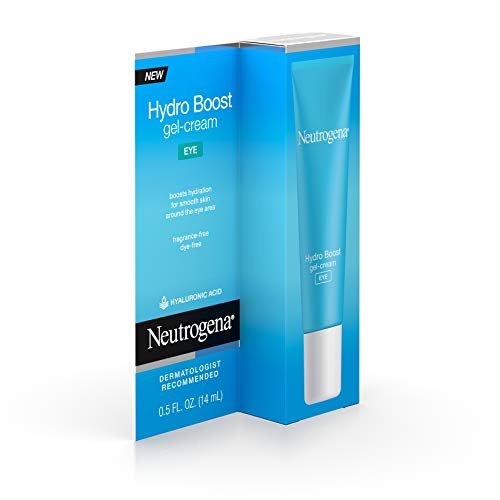 41ZjuAjUHNL - Neutrogena Hydro Boost Hydrating Gel Eye Cream with Hyaluronic Acid, Dermatologist Recommended, Oil and Fragrance Free, 0.5 fl. oz
