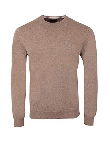 GANT - Pullover da uomo in lana d'agnello Melange bordeaux scuro. S