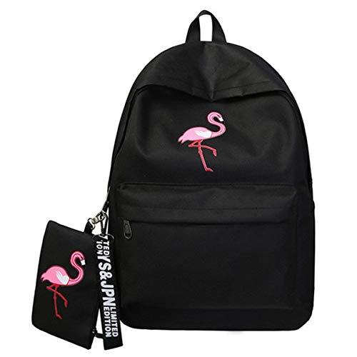 SGFCHNH Casual rugzak Rugzakken Merk Vrouwen Eenvoudige Flamingo afdrukken Rugzak Voor Tienermeisjes Laptop School Tassen Mochila 2019