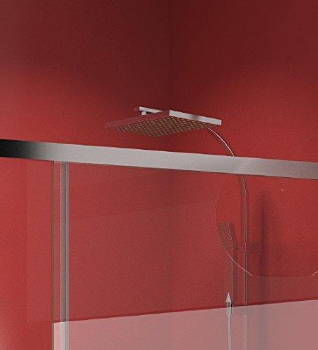 Crespo Decoración Mampara Ducha con Cristal Modelo DACRUX: Amazon.es: Hogar