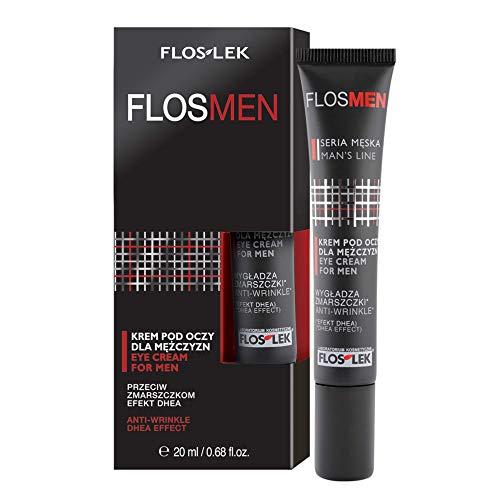 Floslek Anti-Falten Augen-Creme | 20 ml | Reduzierung geringe Falten | Keine Augentaschen | Für Männer über 25 Jahre alt | Für alle Hauttypen