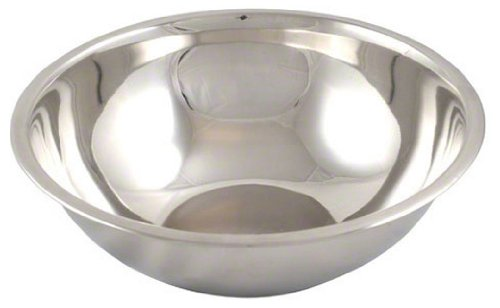 American Metalcraft SSB400 Stainless Steel Mixing Bowl, 10.5' Diameter, Silver, 4-Quart