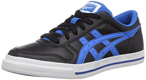 Onistuka Tiger Onistuka Tiger Aaron, Unisex-Erwachsene Basketballschuhe, Schwarz (9049-Black/Mid Blue), 40.5 EU (6.5 UK)