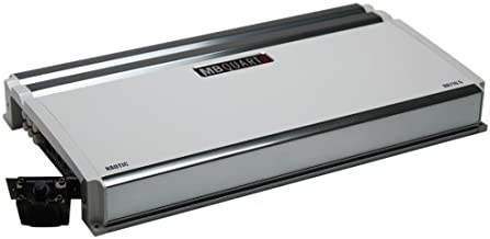 MB Quart NA710.5 Nautic Marine Audio Amplifier (Silver) – Full Range 5 Channel, 710-Watt, Onboard Electronic Crossover, Bass Boost, Adjustable Input Sensitivity