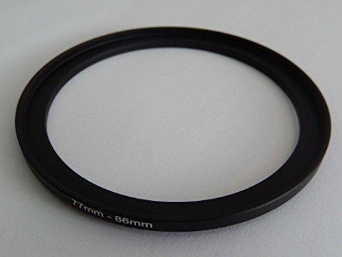 vhbw Adaptador de Filtro Step Up de 77mm-86mm Negro para cámaras Sigma 50 mm F1,4 DG HSM Art