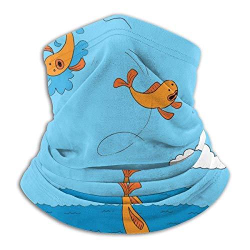 Funny Fish Neck Gaiter Warmer Windproof Face Shield Scarf Magic Balaclava Sports de Plein air