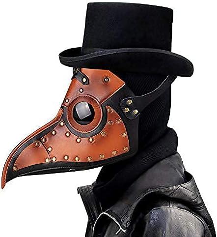 Leshi Shop Máscara de médico de la peste, máscaras de Halloween para adultos, máscara de la peste, fiesta, carnaval, disfraz de médico de la peste, máscaras de cosplay, color marrón