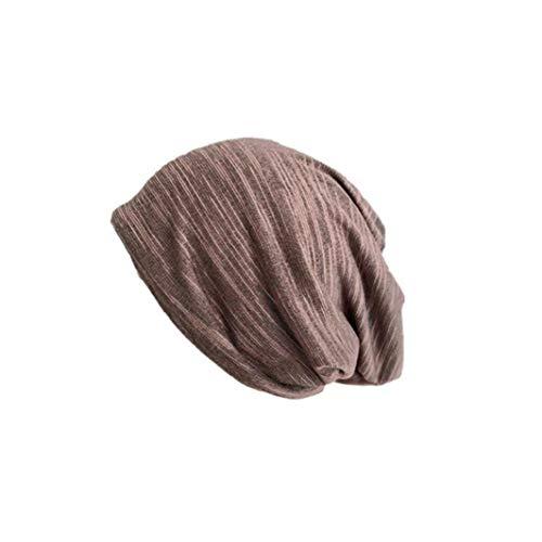 XKJFZ Unisex-Kopf-Kopf Cotton-Kopf-Verpackungs-Caps Fashion Sommer Hip-Hop Lässige Schal-Hut Chemo-Hut für Männer Frauen Kaffee-Winter-warme Supplies