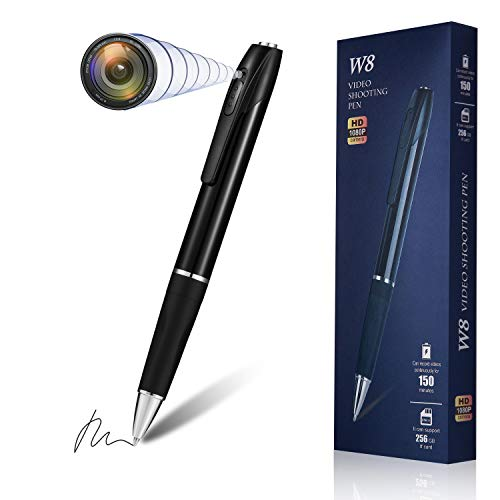 Hidden Spy Camera Pen Nanny Camera Pen HD 1080P, Spy Kit Body Camera Portable Pocket Mini Camera 150 Minutes Battery Life with 32GB SD Card
