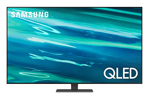 Samsung QE55Q80AATXZT Smart TV 55  QLED 4K, Ultra HD, Direct Full Array, Processore Quantum 4K, Quantum HDR, OTS, Multiview, Wi-Fi, StylishQ, Carbon Silver, 2021, Alexa e Google Assistant integrati