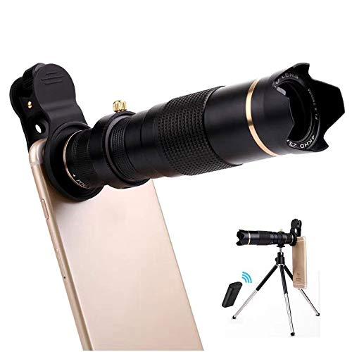 WQYRLJ HD Mobiele Telefoon Telescoop, Optische Zoom 23X Telefoon Camera Lens Kit met Mini Statief Afstandsbediening voor Iphone Samsung Alle Smartphones