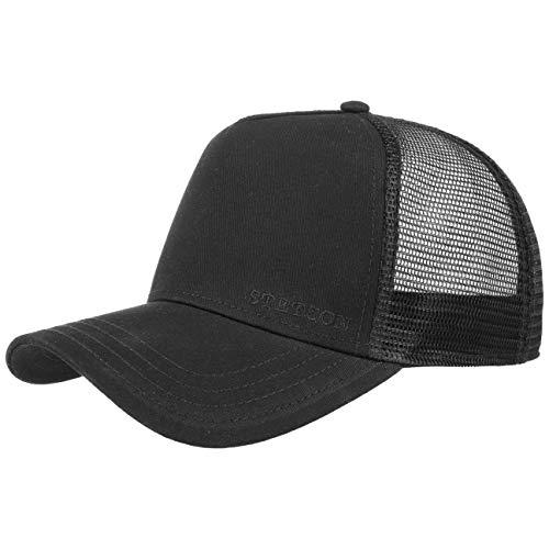 Stetson Classic Cotton Trucker Cap - Truckercap Herren/Damen - Basecap mit Baumwolle - One Size 56-60 cm - Meshcap Frühjahr/Sommer - Baseballcap schwarz One Size