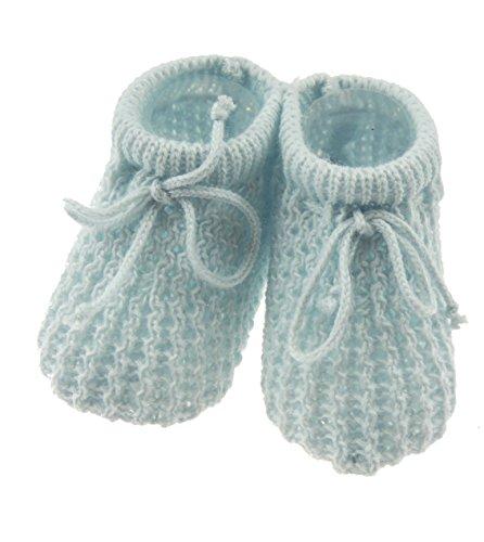 Scarpine da neonato all'uncinetto, per maschi e femmine Blue Neonato