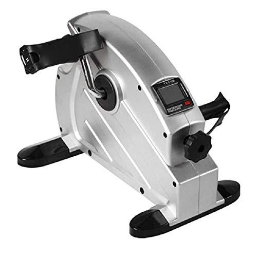 FHS Mini Cyclette Pedalatore motorizzato Portatile Esercizio sotto Il Braccio della Bici da scrivania e Ciclo della Bicicletta Resistenza Regolabile della Bicicletta con Display LCD