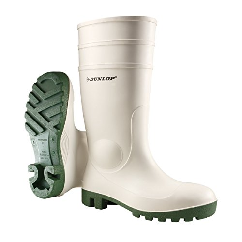 Dunlop Protective Footwear Protomastor full safety Unisex-Erwachsene Gummistiefel, Weiß, 43 EU