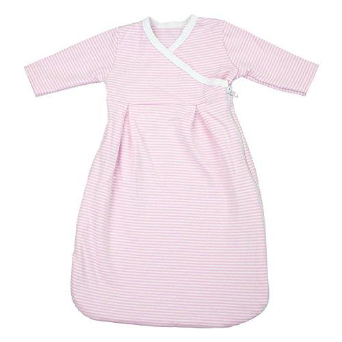 TupTam Baby Unisex Langarm Innenschlafsack, Farbe: Streifenmuster Rosa, Größe: 50/56