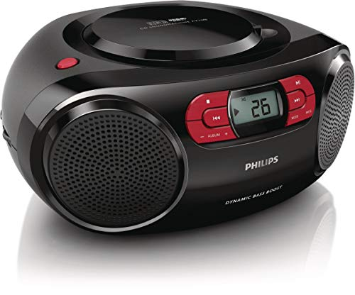 Radio CD Portátil PHILIPS AZ2345/12 Color Negro, USB