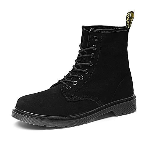 Männer und Frauen Fallen und Wintermode Lässig Wildleder Martin Boots Womans Stiefel Große Yards Große Stiefel für Männer Paar Schuhe (Color : Black, Size : 36)